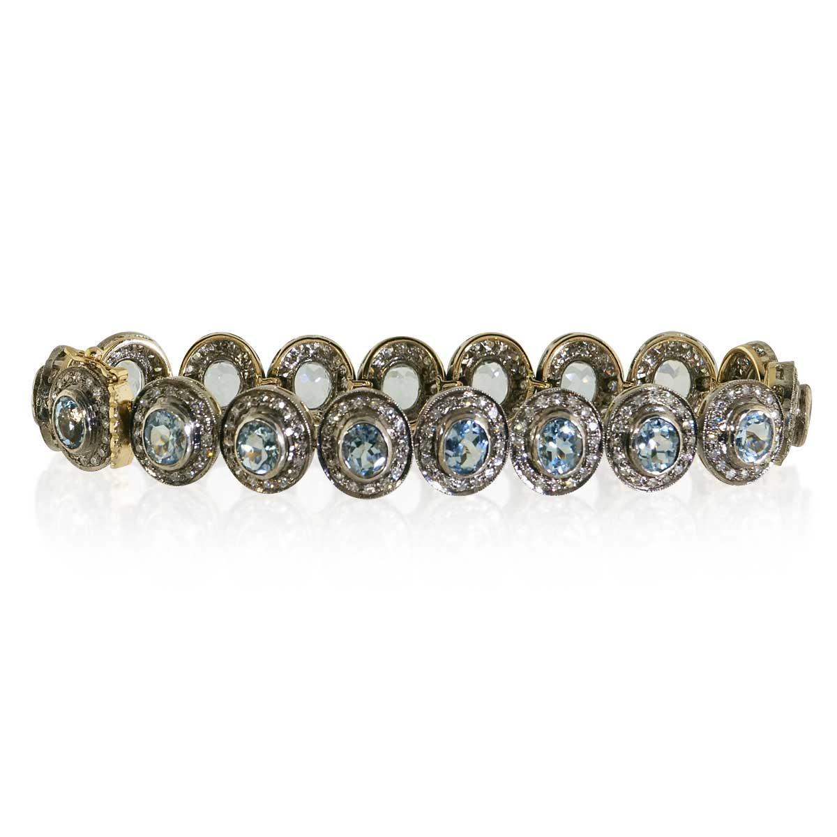 diamant riviere tennisarmband wei gold armband 18 kt mit. Black Bedroom Furniture Sets. Home Design Ideas