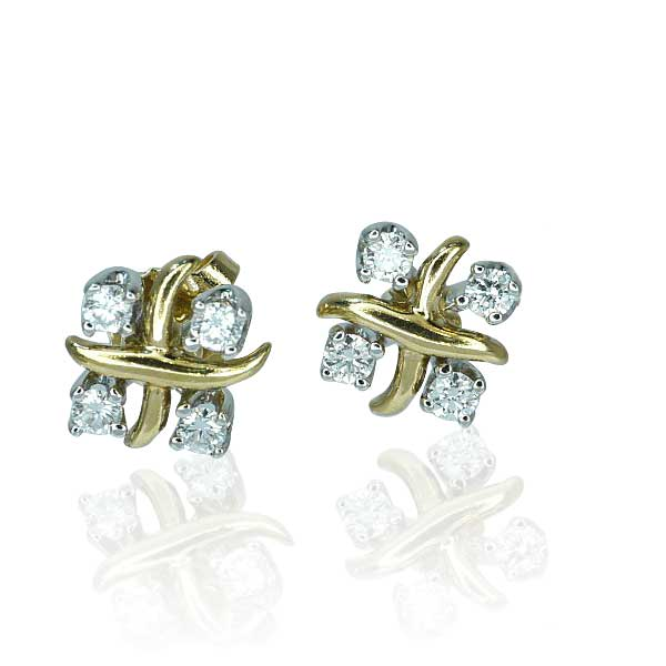 tiffany diamant ohrstecker lynn 0 499ct brillanten in gelbgold weissgold schmuck. Black Bedroom Furniture Sets. Home Design Ideas