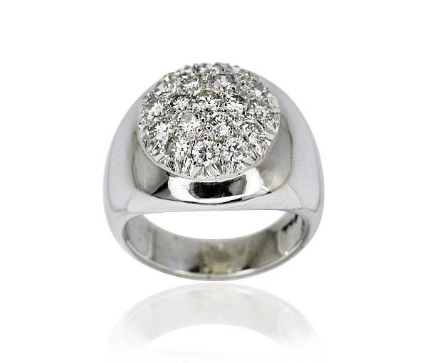 diamant ring mit 19 diamanten 0 847ct 750 weissgold schmuck. Black Bedroom Furniture Sets. Home Design Ideas