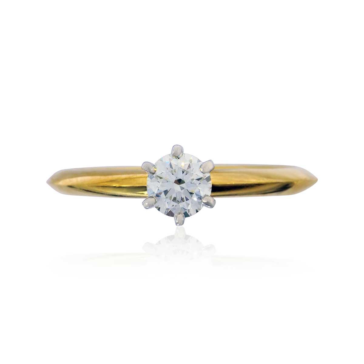 Tiffany® Solitärring 0,327ct Diamant in 750 Weissgold-Gelbgold ...