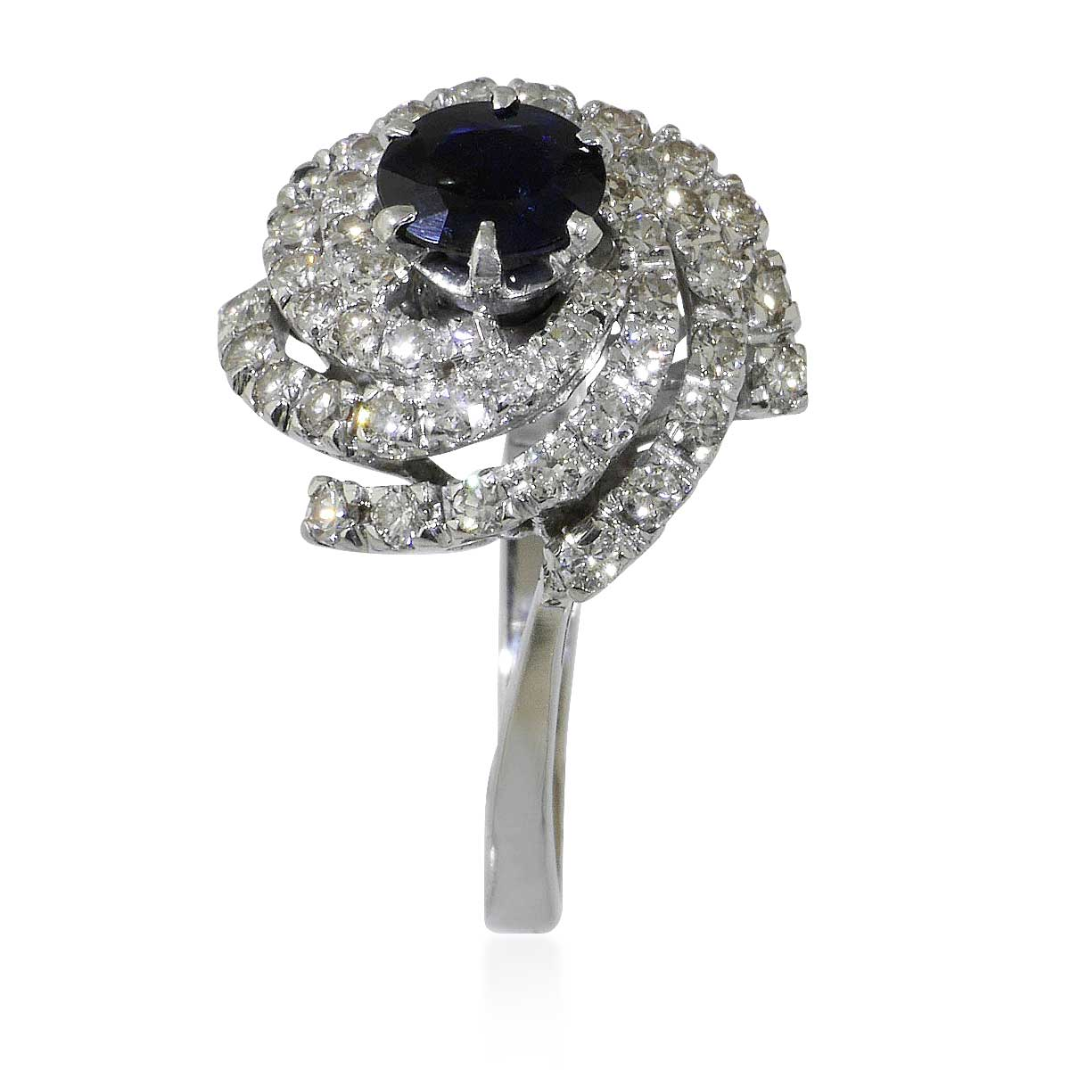 saphir diamant ring mit 1 42ct saphir und 1 73ct diamanten. Black Bedroom Furniture Sets. Home Design Ideas